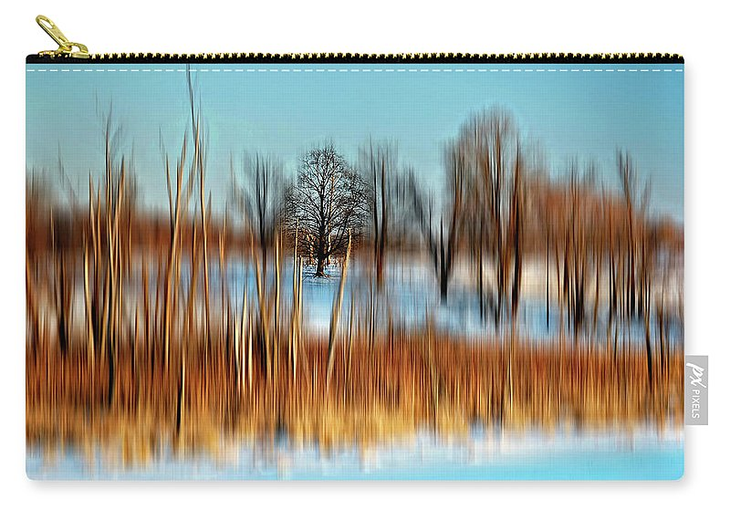 Winter Carry-all Pouch featuring the photograph Brrr by Steve Harrington