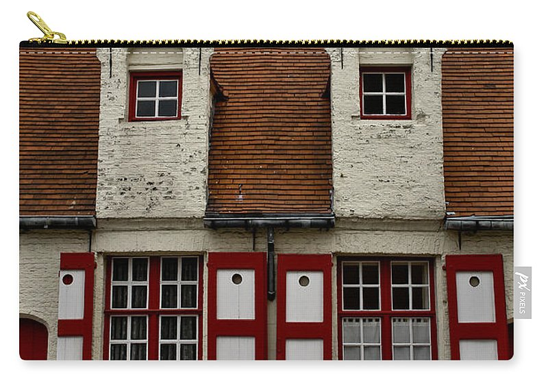 Beguinage House Carry-all Pouch featuring the photograph Bruges Houses by Brothers Beerens