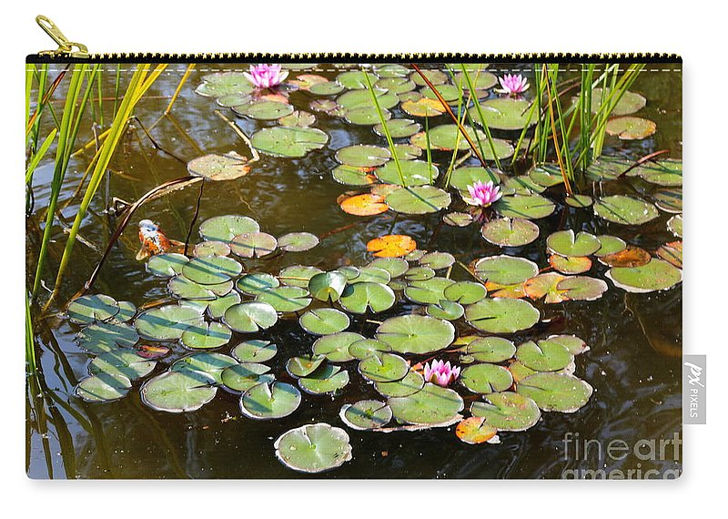 Bruges Carry-all Pouch featuring the photograph Bruges Lily Pond by Carol Groenen