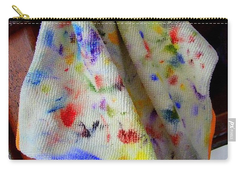 Paintings Carry-all Pouch featuring the photograph Brush Cleaner by Mary Deal