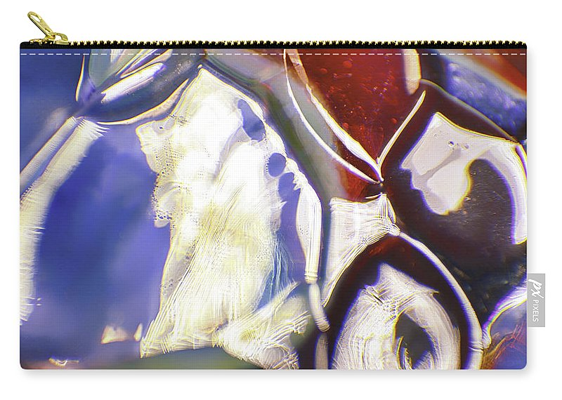 Blue Carry-all Pouch featuring the photograph Brush Strokes by Omaste Witkowski