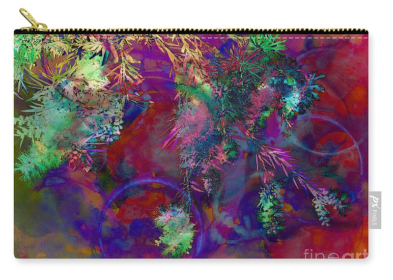 Abstract Carry-all Pouch featuring the photograph Brushing Circles by Meghan at FireBonnet Art