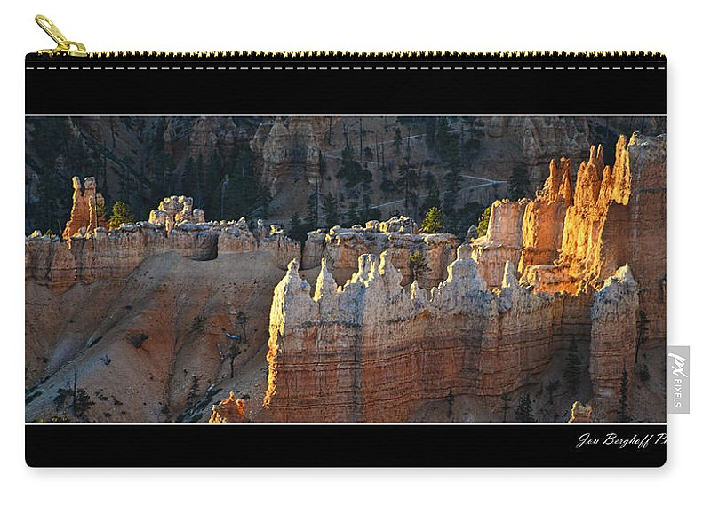 Bryce Canyon Carry-all Pouch featuring the photograph Bryce Canyon At Sunrise by Jon Berghoff