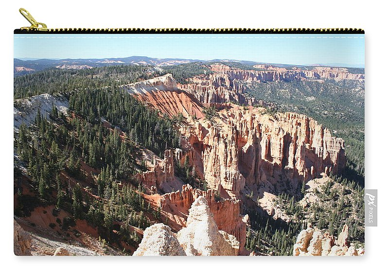 Canyon Carry-all Pouch featuring the photograph Bryce Canyon Hoodoos Landscape by Christiane Schulze Art And Photography