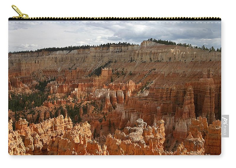 Bryce Canyon Hoodoos Carry-all Pouch featuring the photograph Bryce Canyon Hoodoos by Wes and Dotty Weber