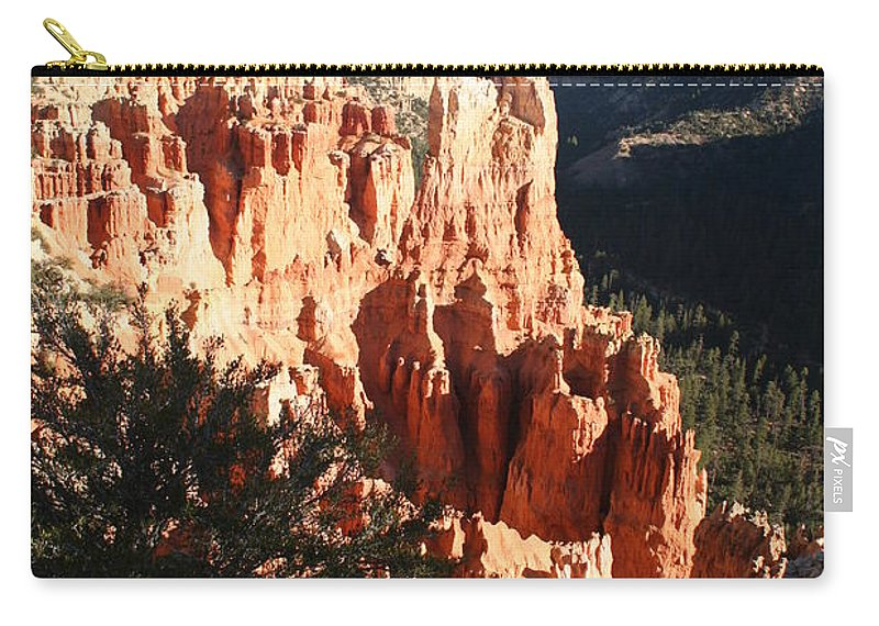 Canyon Carry-all Pouch featuring the photograph Bryce Canyon Landscape by Christiane Schulze Art And Photography