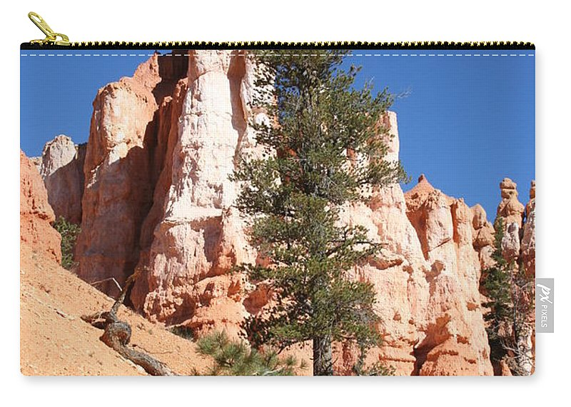 Canyon Carry-all Pouch featuring the photograph Bryce Canyon Red Fins by Christiane Schulze Art And Photography