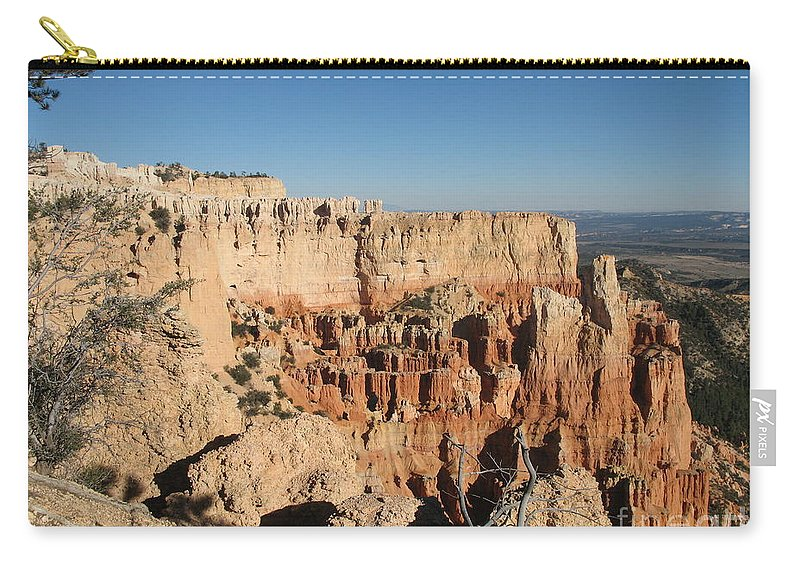 Rocks Carry-all Pouch featuring the photograph Bryce Canyon Scenic View by Christiane Schulze Art And Photography