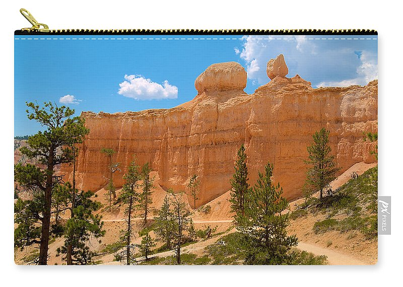 Bryce Canyon Carry-all Pouch featuring the photograph Bryce Canyon Walls by Richard J Cassato