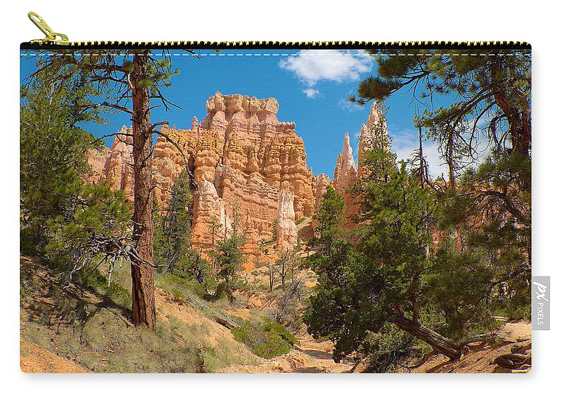 Bryce Canyon Carry-all Pouch featuring the photograph Bryce Hills 2 by Richard J Cassato