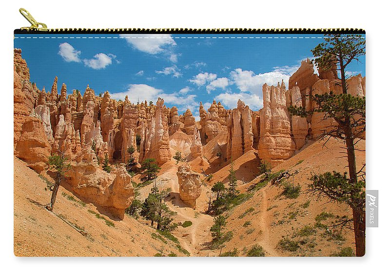 Bryce Canyon Carry-all Pouch featuring the photograph Bryce Hills 3 by Richard J Cassato