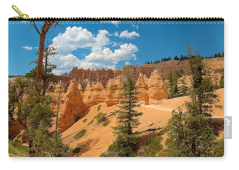 Bryce Canyon Carry-all Pouch featuring the photograph Bryce Hills 4 by Richard J Cassato