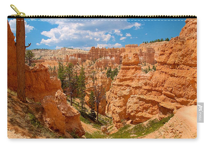 Bryce Canyon Carry-all Pouch featuring the photograph Bryce Hills 6 by Richard J Cassato