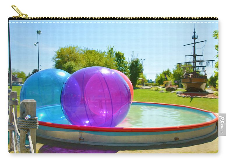 Bubble Ball Carry-all Pouch featuring the painting Bubble Ball 2 by Jeelan Clark
