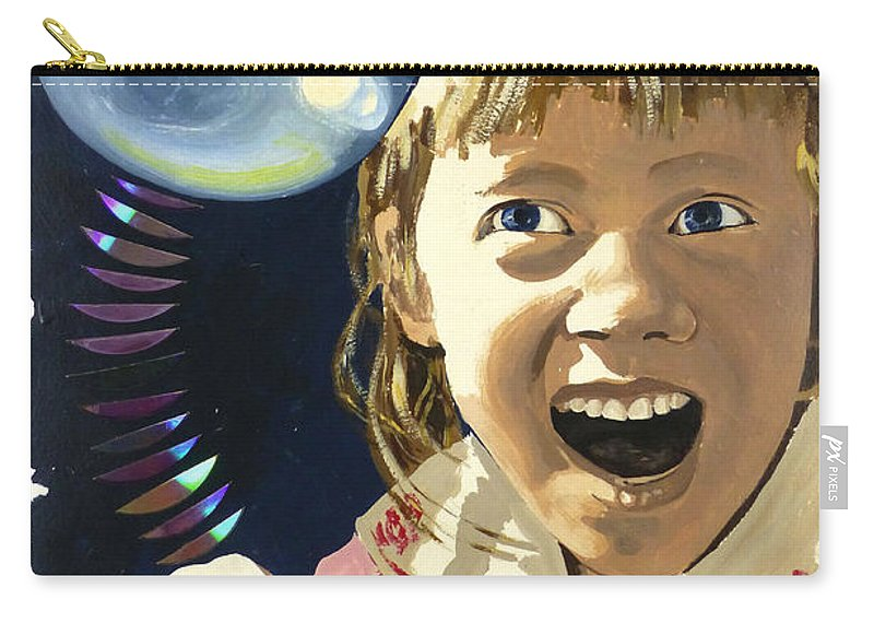 Hanzer Art Carry-all Pouch featuring the painting Bubbles by Jack Hanzer Susco