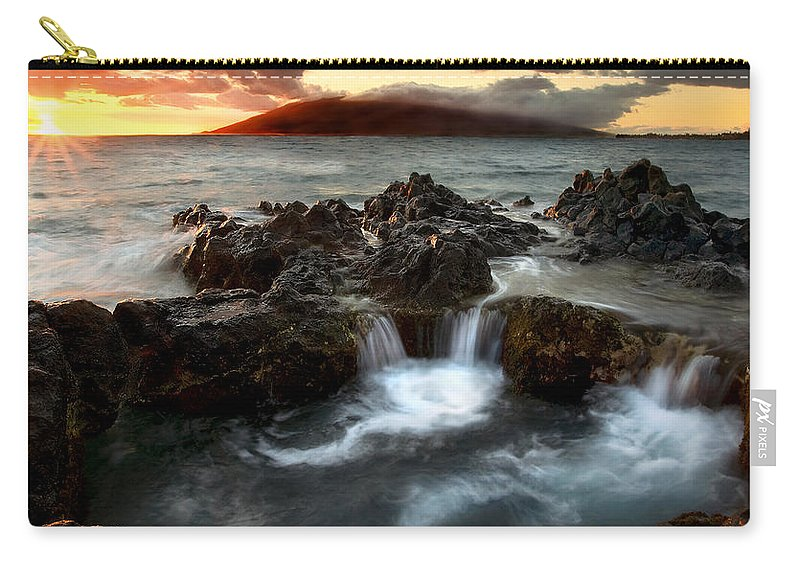 Sunset Carry-all Pouch featuring the photograph Bubbling Cauldron by Mike Dawson