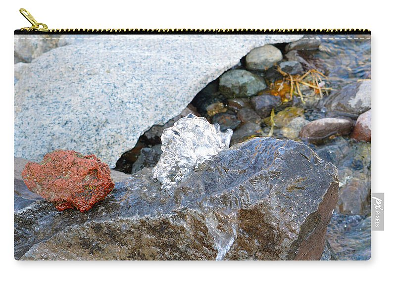Water Carry-all Pouch featuring the photograph Bubbling Rock by Brent Dolliver