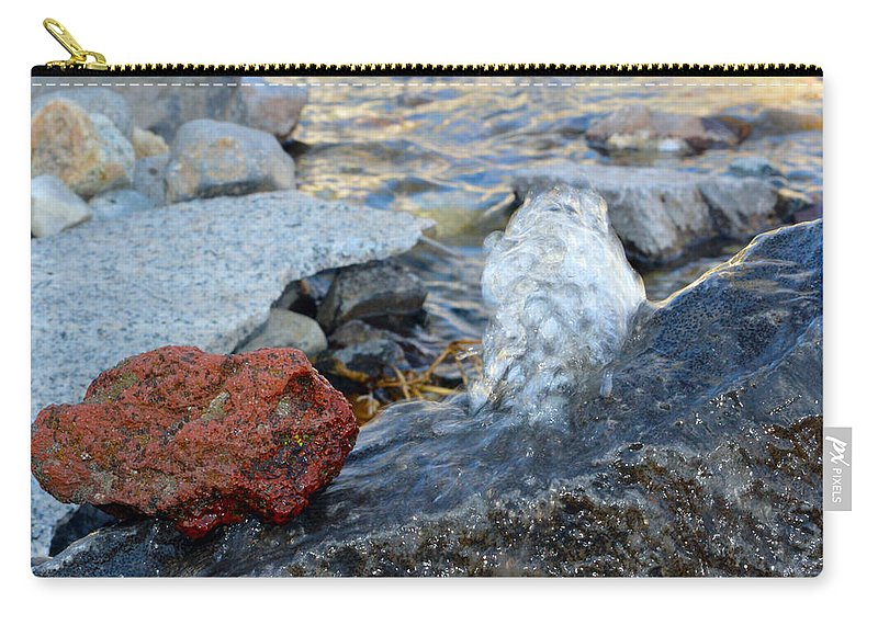 Water Carry-all Pouch featuring the photograph Bubbling Rocks by Brent Dolliver