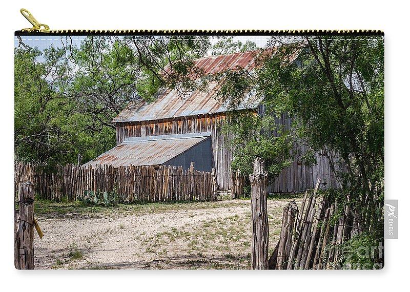 Buck Ranch Barn Carry-all Pouch featuring the photograph Buck Ranch Barn by Debra Martz