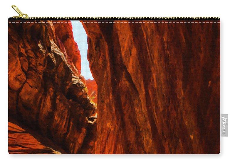 Beautyinnature Carry-all Pouch featuring the photograph Buckskin Gulch 11 by Ingrid Smith-Johnsen