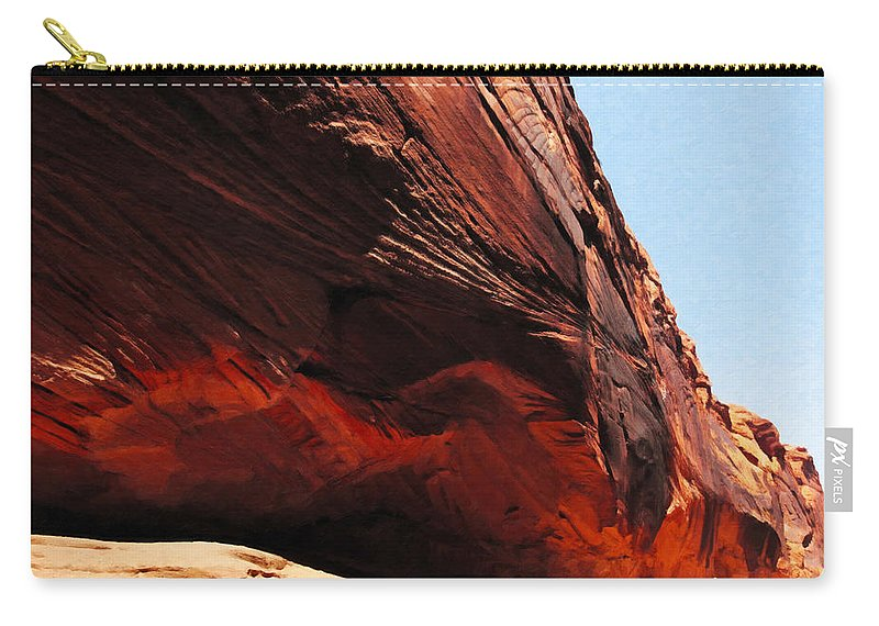 Beautyinnature Carry-all Pouch featuring the photograph Buckskin Gulch 14 by Ingrid Smith-Johnsen