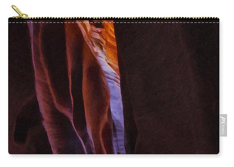 Beautyinnature Carry-all Pouch featuring the photograph Buckskin Gulch 16 by Ingrid Smith-Johnsen