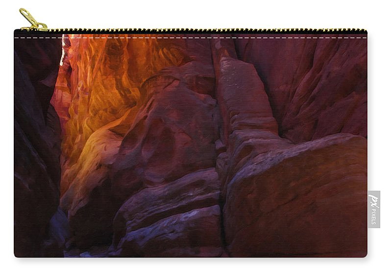 Beautyinnature Carry-all Pouch featuring the photograph Buckskin Gulch 17 by Ingrid Smith-Johnsen