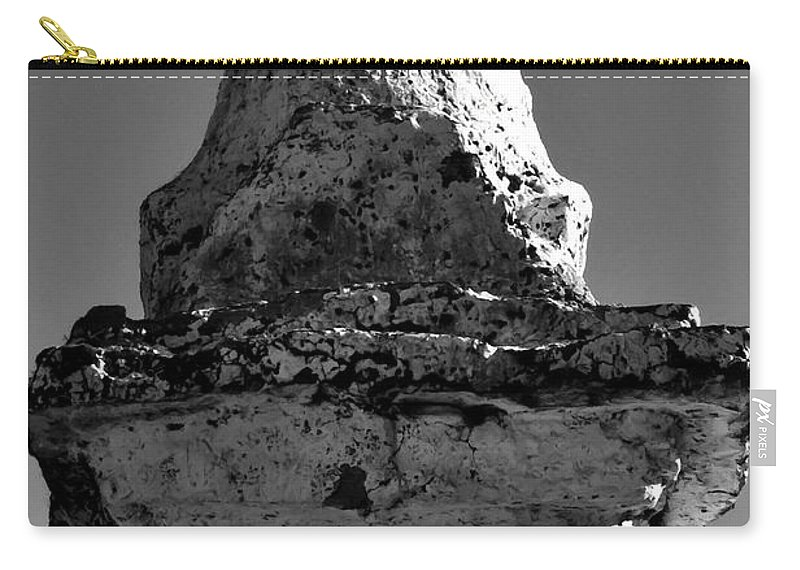 Nepal Carry-all Pouch featuring the photograph Buddha Eyes On Stupa by Jeelan Clark