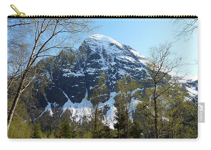 Carry-all Pouch featuring the photograph Buds And Glaciers by Katerina Naumenko