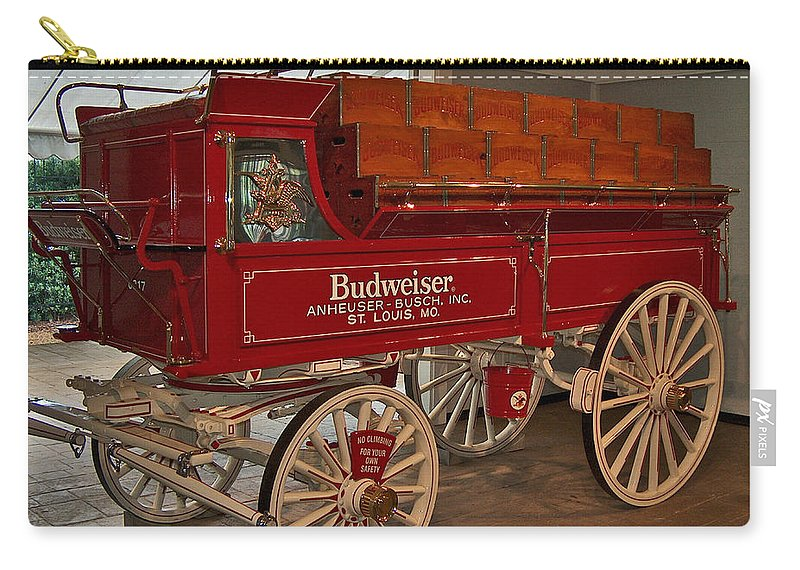 Budweiser Carry-all Pouch featuring the photograph Budweiser Anheuser Busch Wagon by Barb Dalton