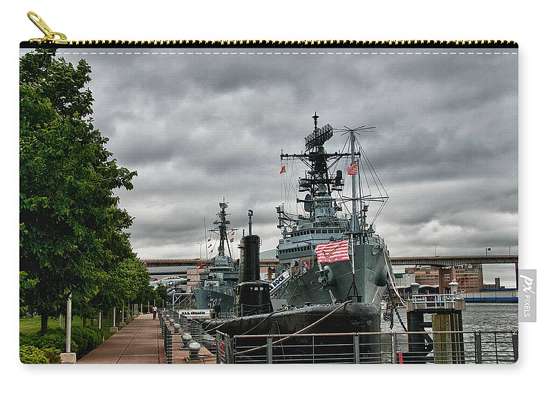 Buffalo Carry-all Pouch featuring the photograph Buffalo Naval And Military Park by Guy Whiteley