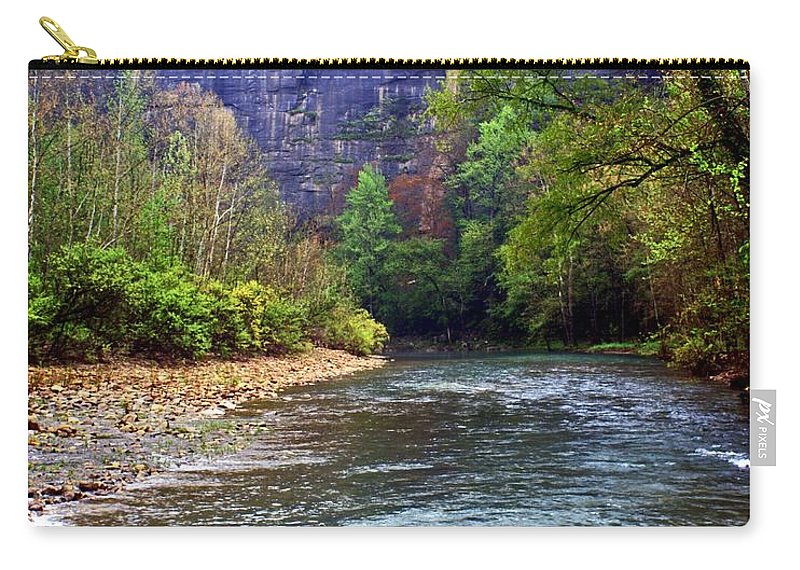 Buffalo National River Carry-all Pouch featuring the photograph Buffalo River Downstream by Marty Koch