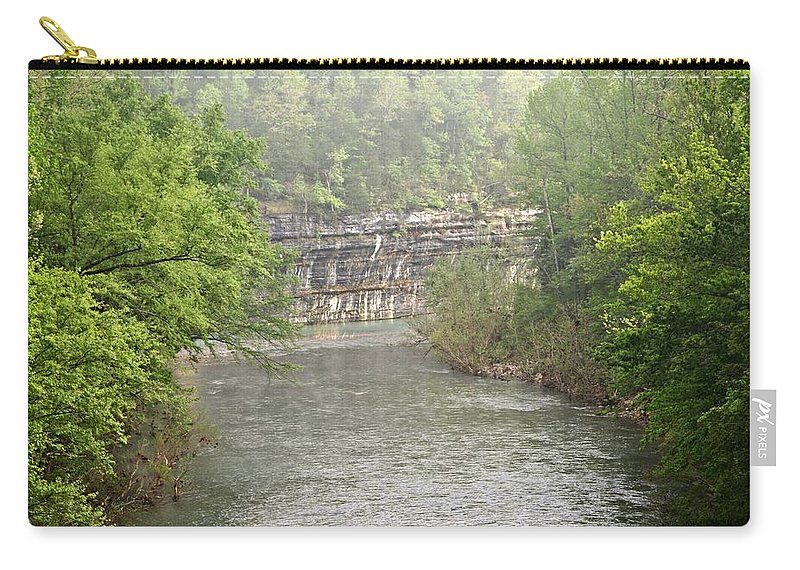 Buffalo National River Carry-all Pouch featuring the photograph Buffalo River Mist Horizontal by Marty Koch