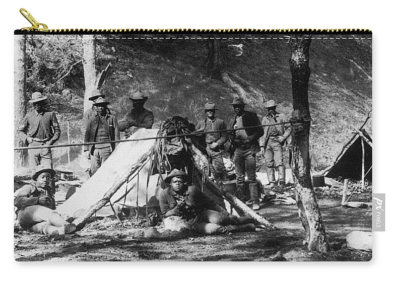 10th Cavalry Carry-all Pouch featuring the photograph Buffalo Soldiers by Granger
