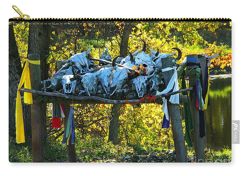 Bison Carry-all Pouch featuring the photograph Buffalo Spiritual Grounds by Gary Richards
