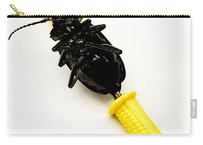 Absurd Carry-all Pouch featuring the photograph Bug On The Cob by Amy Cicconi