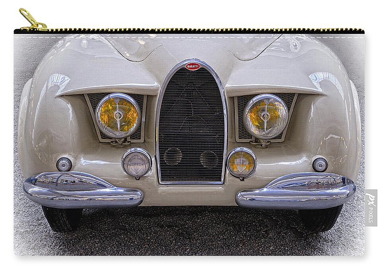 Bugatti Cabriolet Type 101 Carry-all Pouch featuring the photograph Bugatti Cabriolet Type 101 1952 by Dave Mills
