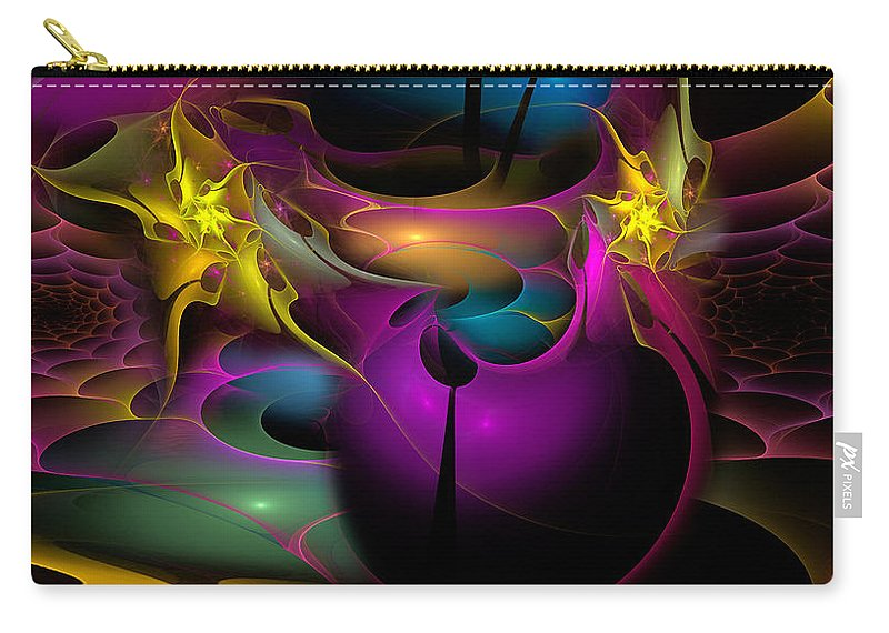 Phil Sadler Carry-all Pouch featuring the digital art Buggin' Ya by Phil Sadler