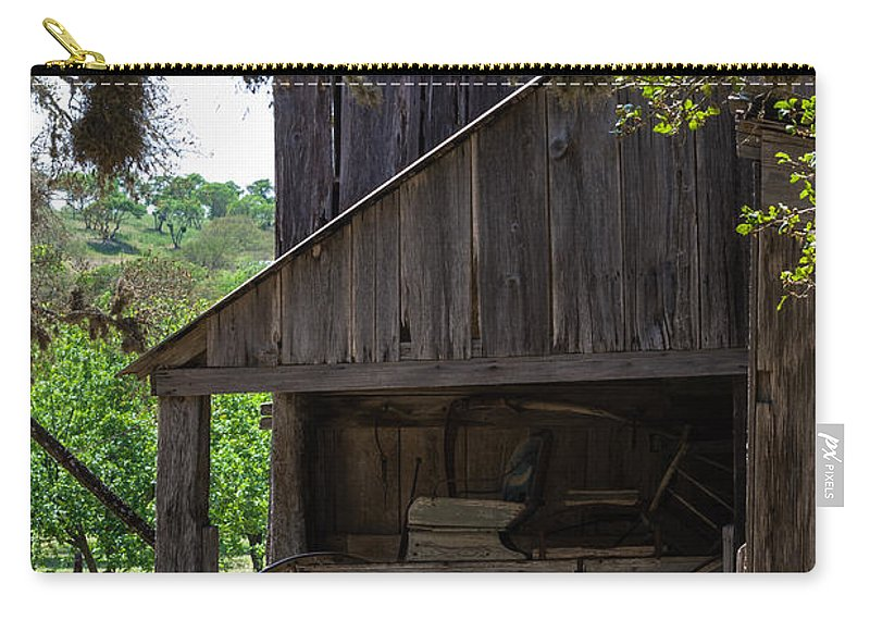 Barn Carry-all Pouch featuring the photograph Buggy In The Barn by Ed Gleichman