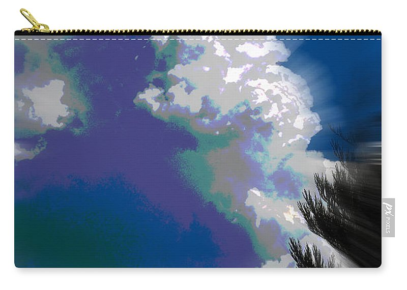 Abstract Carry-all Pouch featuring the photograph Building Cumulus Abstract by Mick Anderson