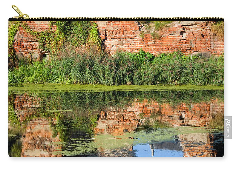 Gdansk Carry-all Pouch featuring the photograph Building Destroyed During World War II by Artur Bogacki
