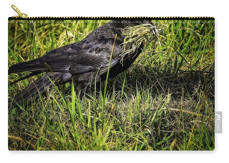 Newport Carry-all Pouch featuring the photograph Building My Nest by Image Takers Photography LLC - Carol Haddon