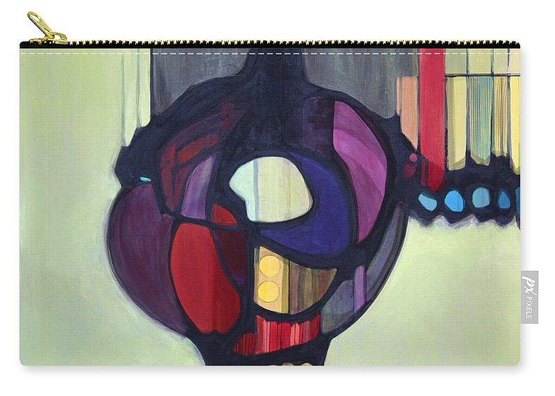 Bold Color Carry-all Pouch featuring the painting Bulbosity by Marlene Burns