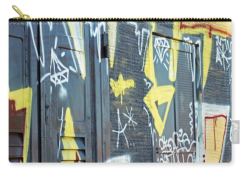 Bulgarian Graffiti Carry-all Pouch featuring the photograph Bulgarian Graffiti by Tony Murtagh