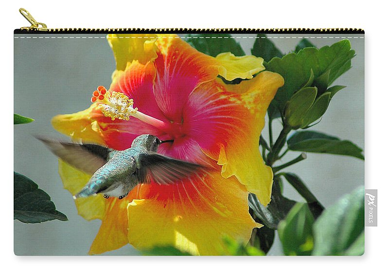 Hummer Carry-all Pouch featuring the photograph Bullseye by Lynn Bauer