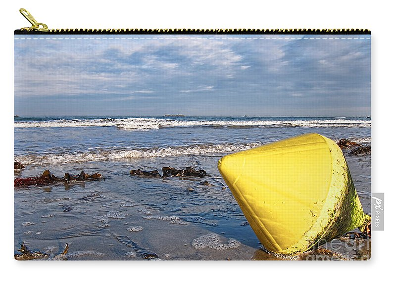 France Carry-all Pouch featuring the photograph Buoy At Low Tide by Olivier Le Queinec