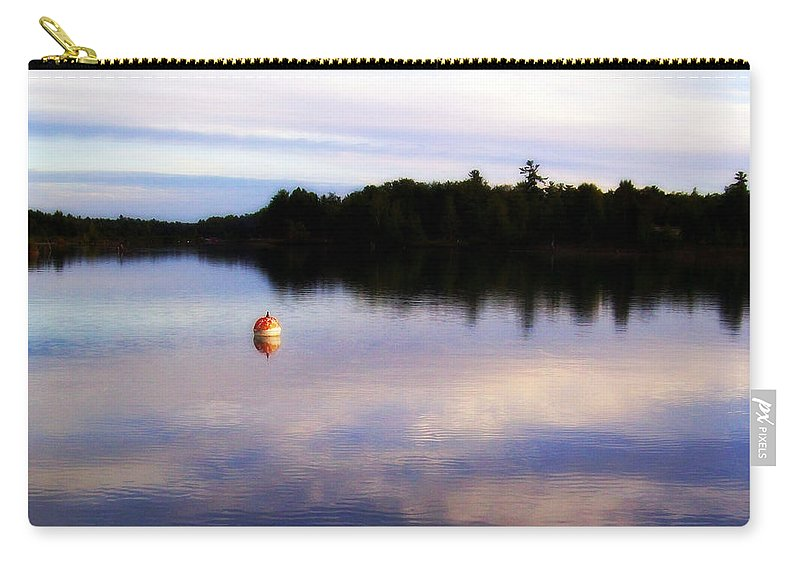 River Carry-all Pouch featuring the photograph Buoy On The Torch Bayou by Michelle Calkins