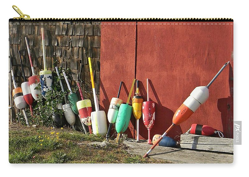 Buoy Carry-all Pouch featuring the photograph Buoys by Jean Goodwin Brooks