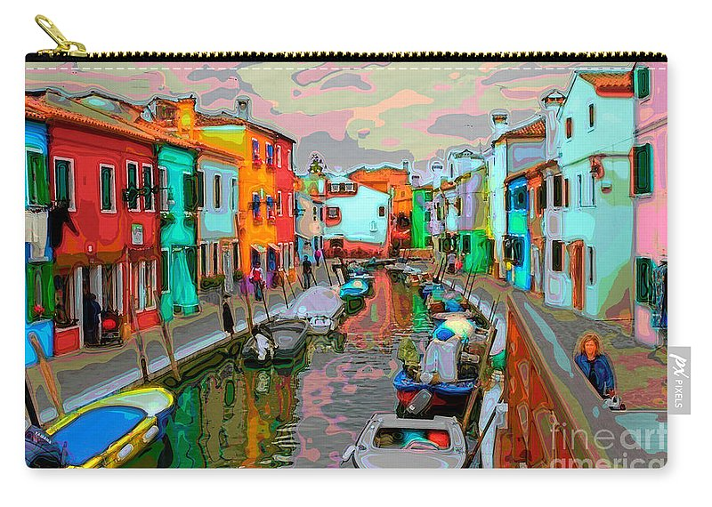 Italy Carry-all Pouch featuring the photograph Burano Art Deco by Timothy Hacker