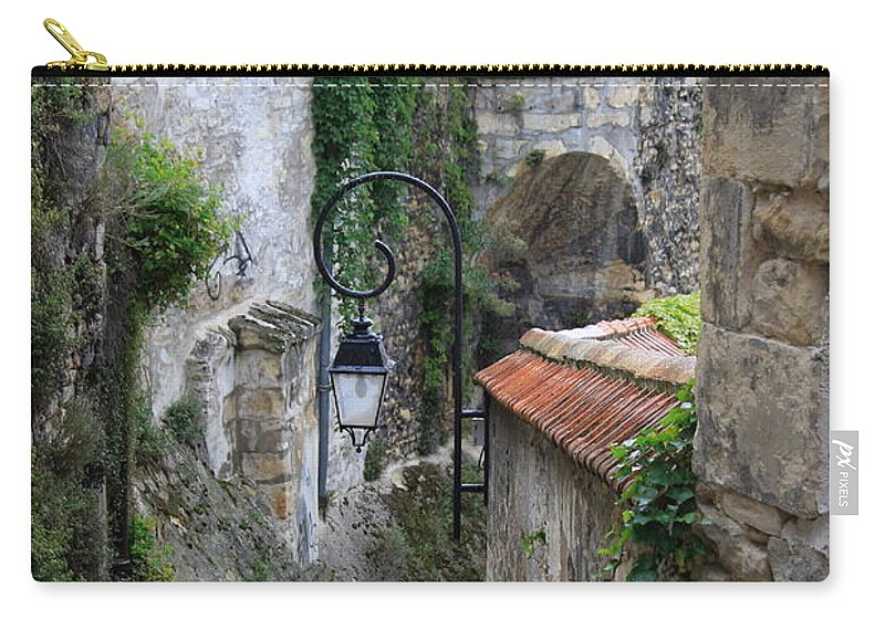 Alley Carry-all Pouch featuring the photograph Burgundy Alley by Christiane Schulze Art And Photography